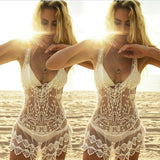 Women's Sheer Bikini Cover Up Swimwear Swimsuit Bathing Suit Summer Beach Dress