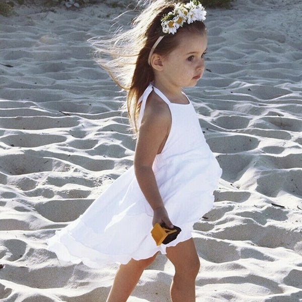 CA Toddler Kids Baby Girl Strap Backless Dress Party Bridesmaid Princess Dresses