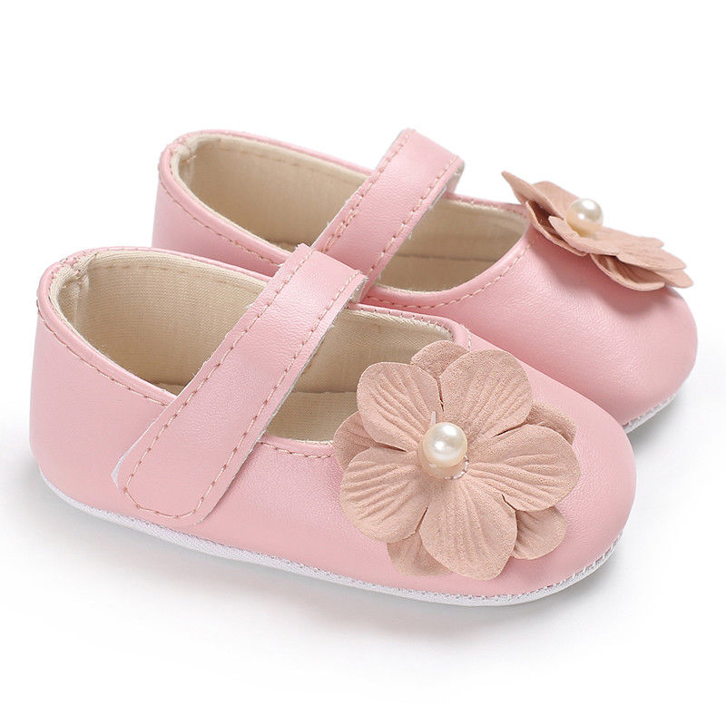 US Casual Newborn Baby Girl Floral Anti-slip Shoes Soft Sole Sneakers Prewalker