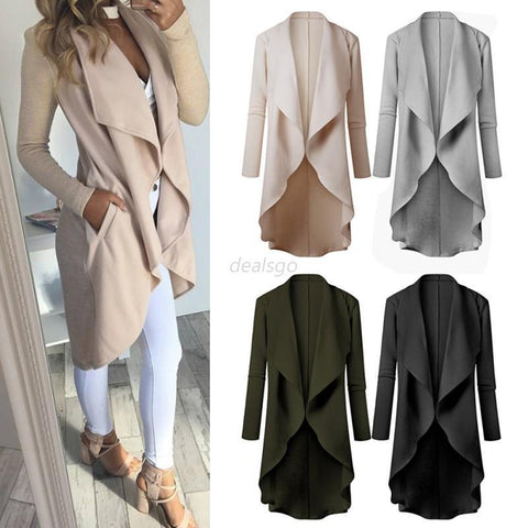 Women's Knitted Sweater Long Sleeve Casual Cardigan Knitwear Jumper Coat Jacket