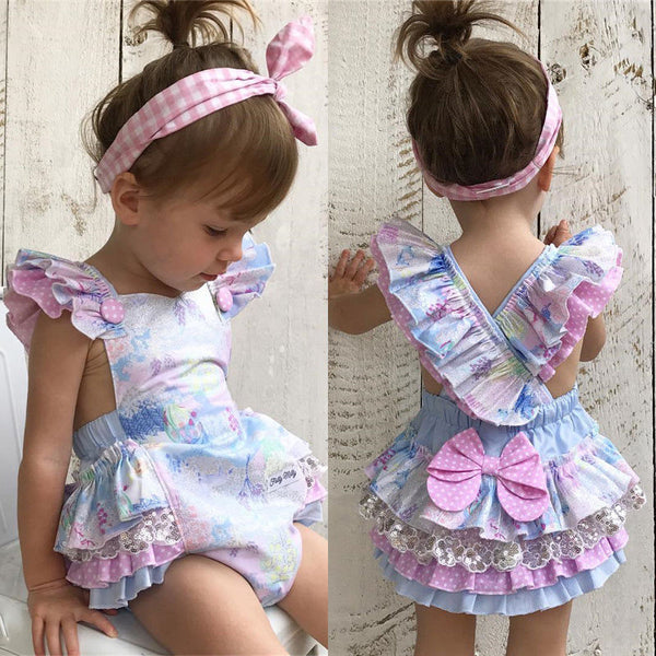 Floral Newborn Infant Baby Girl Bodysuit Romper Jumpsuit Outfits Sunsuit Clothes