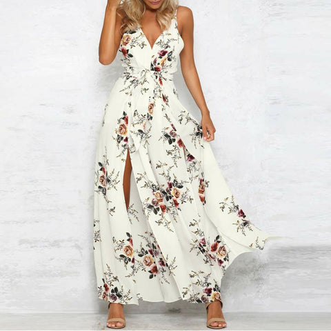 Women Bodysuit Sleeveless Floral Printed Jumpsuit Summer Loose Playsuit Rompers