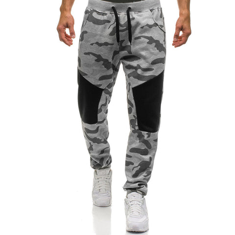 Mens Sport Pants Long Trousers Tracksuit Fitness Workout Joggers Gym Sweatpants