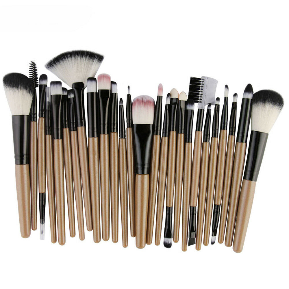 25pcs Cosmetic Makeup Brush Blusher Eye Shadow Brushes Set Kit Make Up Brushes