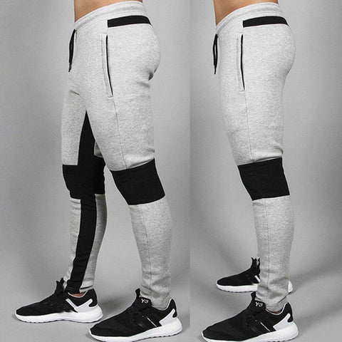 Men Sport Pants Long Trousers Tracksuit Fitness Workout Joggers Gym Sweatpants A