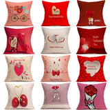 Linen Cushion Cover Throw Waist Pillow Case Sofa Home Decor For Valentine's Day