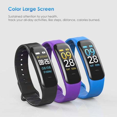 Smart Bracelet Watch Heart Rate Monitor Blood Pressure Fitness Activity Tracker