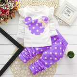 Toddler Kids Baby Girls Outfits Clothes Long Sleeve T-shirt Tops&Long Pants Set