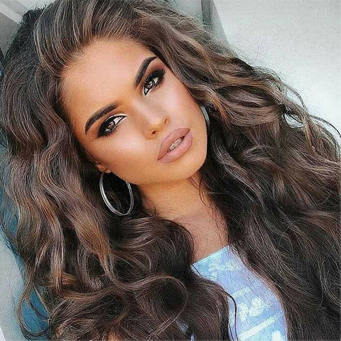 US Sexy Women's Fashion Wavy Long Curly Hair Full Wigs Cosplay Party Wig