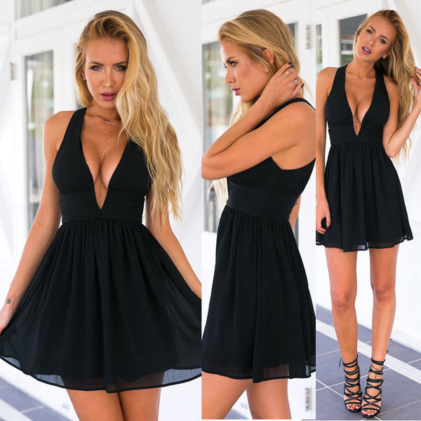 Women Summer Casual Short Sleeve Casual Evening Party Cocktail Short Mini Dress