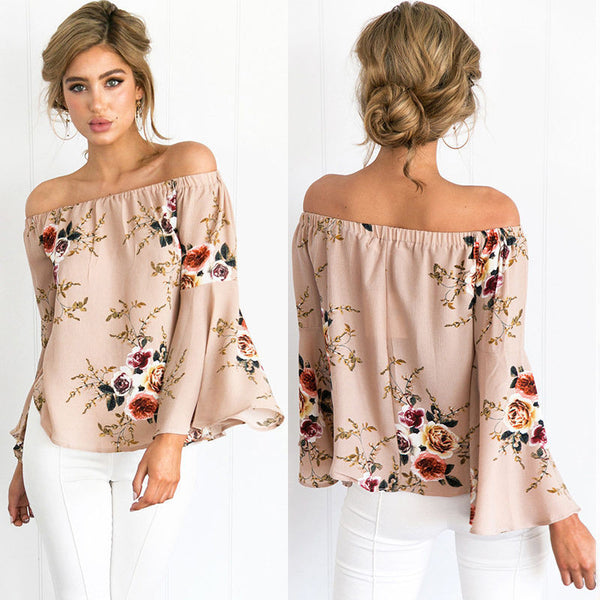 Fashion Women Summer Loose Top Long Sleeve Blouse Ladies Casual Tops T-Shirt ZF