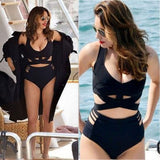 2pcs/Set Women Beach Swimwear Bandage Bikini Push-up Padded Bra Bathingsuit Plus