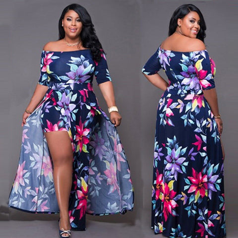 Plus Size Women Jumpsuit Romper Short Trousers Bodycon Clubwear Playsuit Dress