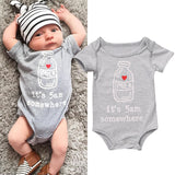 Newborn Baby Boys Girls Cotton Romper Bodysuit Jumpsuit Oufits Sunsuit Clothes w
