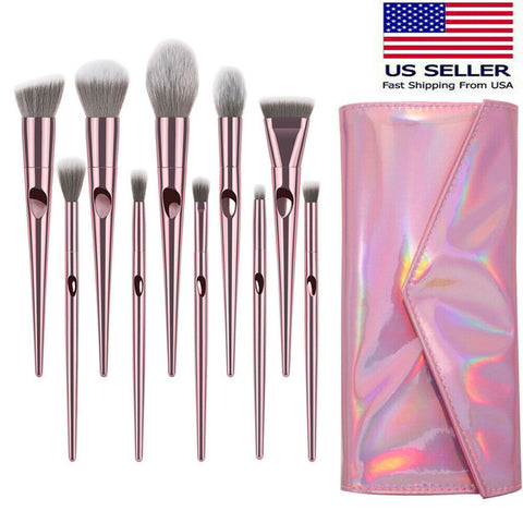 10PCS Makeup Brushes For Blending Blush Concealers Eye Shadows Brushes