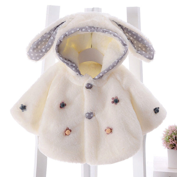 Newborn Baby Infant Kids Girl Winter Warm Hooded Coat Cloak Thick Jacket Outwear