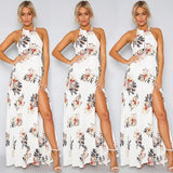 US STOCK Women Summer Boho Long Maxi Party Beach Dress Cocktail Floral Dresses W