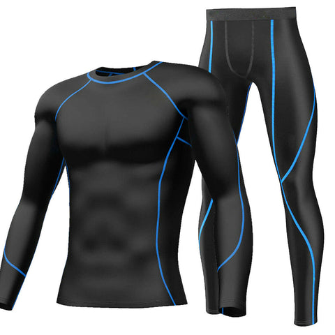 Mens Sports Workout Compression Shirts Pants Gym Clothes Base Layers Tights