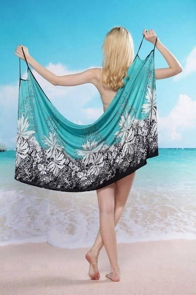 Women Bathing Swimsuit Bikini Swimwear Wrap Pareo Cover Up Beach Dress Sarong