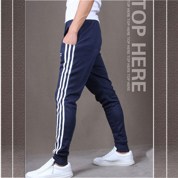 Men sportswear Pants Casual Elastic Cloth Mens Fitness Workout Loose Sweatpants