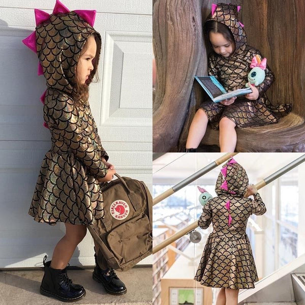 US Stock Newborn Baby Kid Girls Dinosaur Party Princess Dresses Outfits Costume