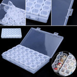 US Seller Clear Plastic 28 Slots Adjustable Jewelry Storage Case Organizer Beads