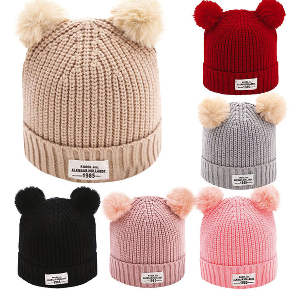 Newborn Toddler Baby Boy Girl Warm Winter Crochet Hat Knit Pom-pom Beanie Cap US