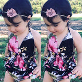 US Boutique Kids Baby Girls Flowers Swimwear One-piece Swimsuit Bathing Dress
