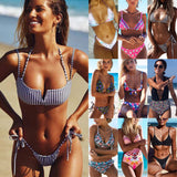 US Womens Bikini Set Bandage Push-Up Padded Swimwear Swimsuit Bathing Brazilian