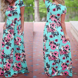 Women Boho Long Maxi Dress Ladies Cocktail Party Evening Summer Beach Sundress
