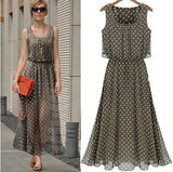 Women Summer Boho Long Maxi Evening Party Chiffon Party Cocktail Dress Sundress