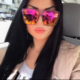 "Flat Top Huge Big Oversized XXL Square Women Sunglasses ""Lauren"" Mirror SHADZ"