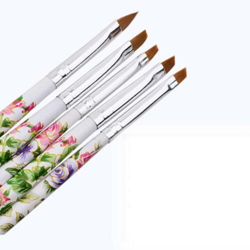 5pc UV Gel Acrylic Nail Art Brush DIY Painting Pen Set Nail Design Manicure Tool
