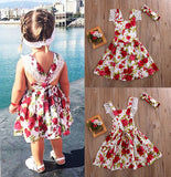 US Boutique Floral Toddler Kids Girls Lace Flowers Dress Summer Sundress Party