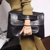 Retro Women's Handbag Crocodile Style PU Leather Evening Bag Clutch Envelope Bag