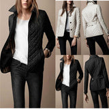 New Slim Women's Autumn and Winter Fashion Coat Quilted Parka Long Sleeve Jacket
