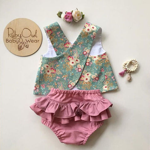 3c60c5d82b Sale US Flower Newborn Baby Girls Outfit Clothes Romper Tops T-shirt+Shorts  Pants Set