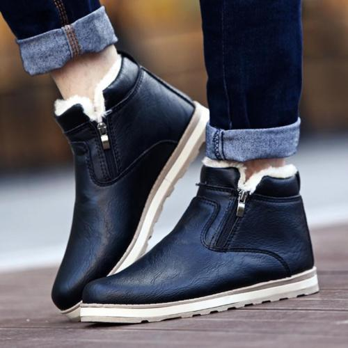 Men Winter Warm Boots Casual Shoes Fashion Plush Snow Boots