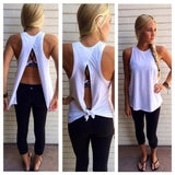 2016 Women Summer Vest Tank Tops Backless Sleeveless Casual Blouse Tops T-Shirt