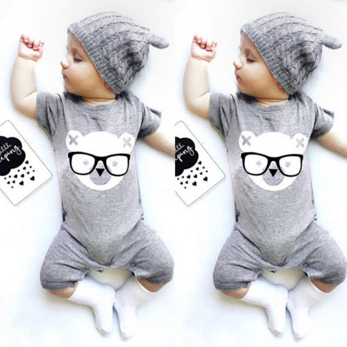 Newborn Baby Boy Girl Infant Romper Bodysuit Jumpsuit Sunsuit Outfit Set Clothes