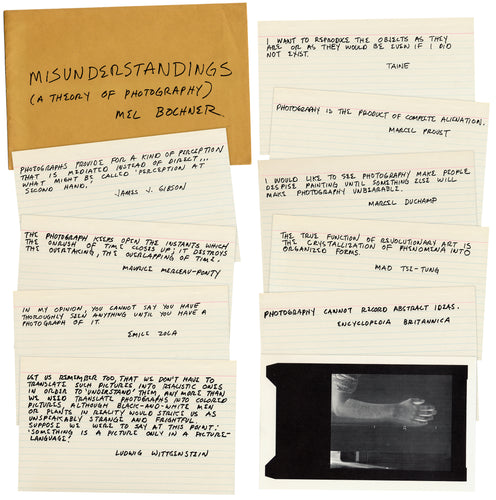 Mel Bochner: Misunderstandings (A Theory of Photography)
