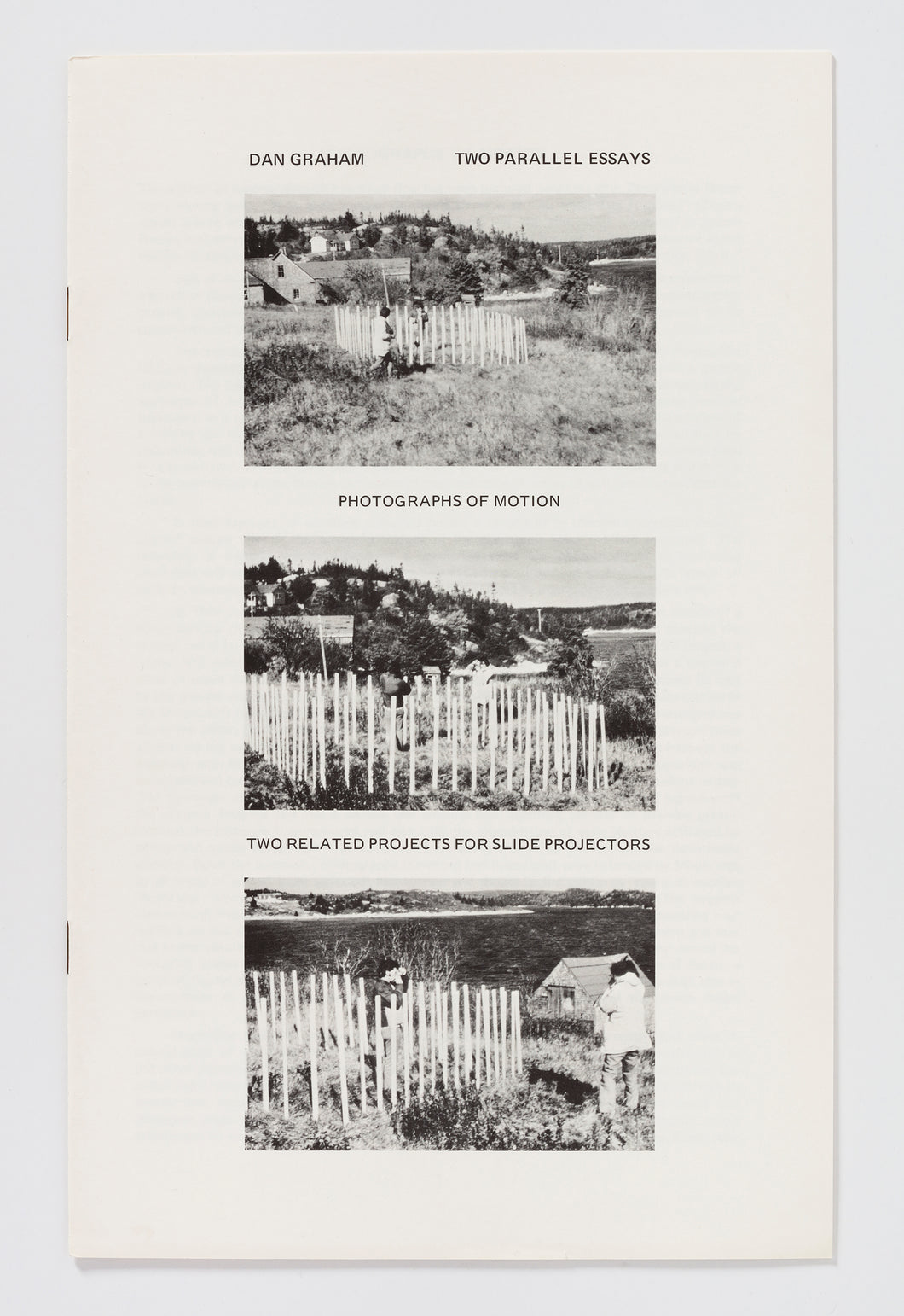 Dan Graham: Two Parallel Essays: Photographs of Motion / Two Related Projects for Slide Projectors