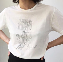 Mieko Meguro: Dan searches one of his vinyl records T-shirt