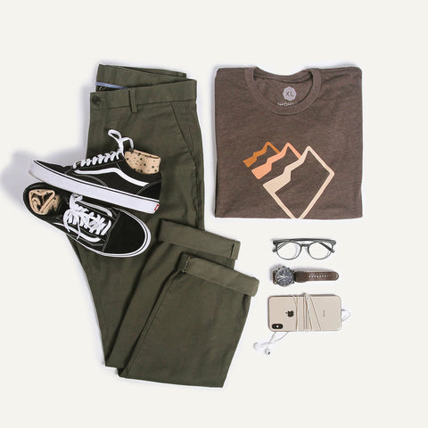 Wohven graphic t-shirt with chinos