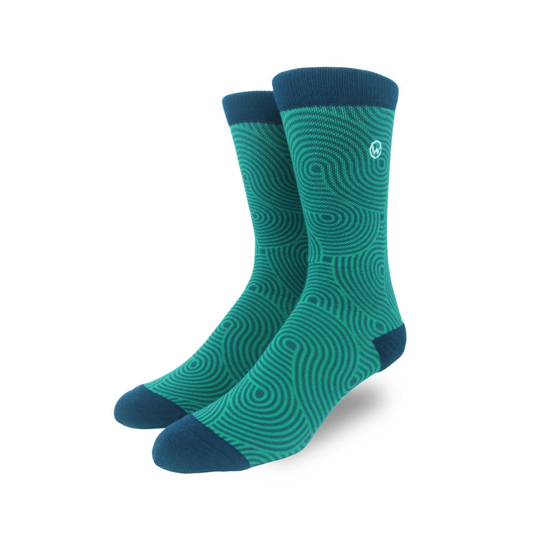 blue and green premium sock subscription