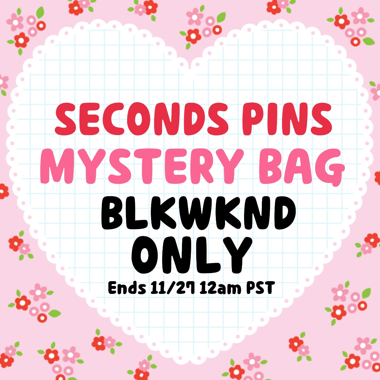 BLKWKND Special - Mystery Bag of Seconds Pins