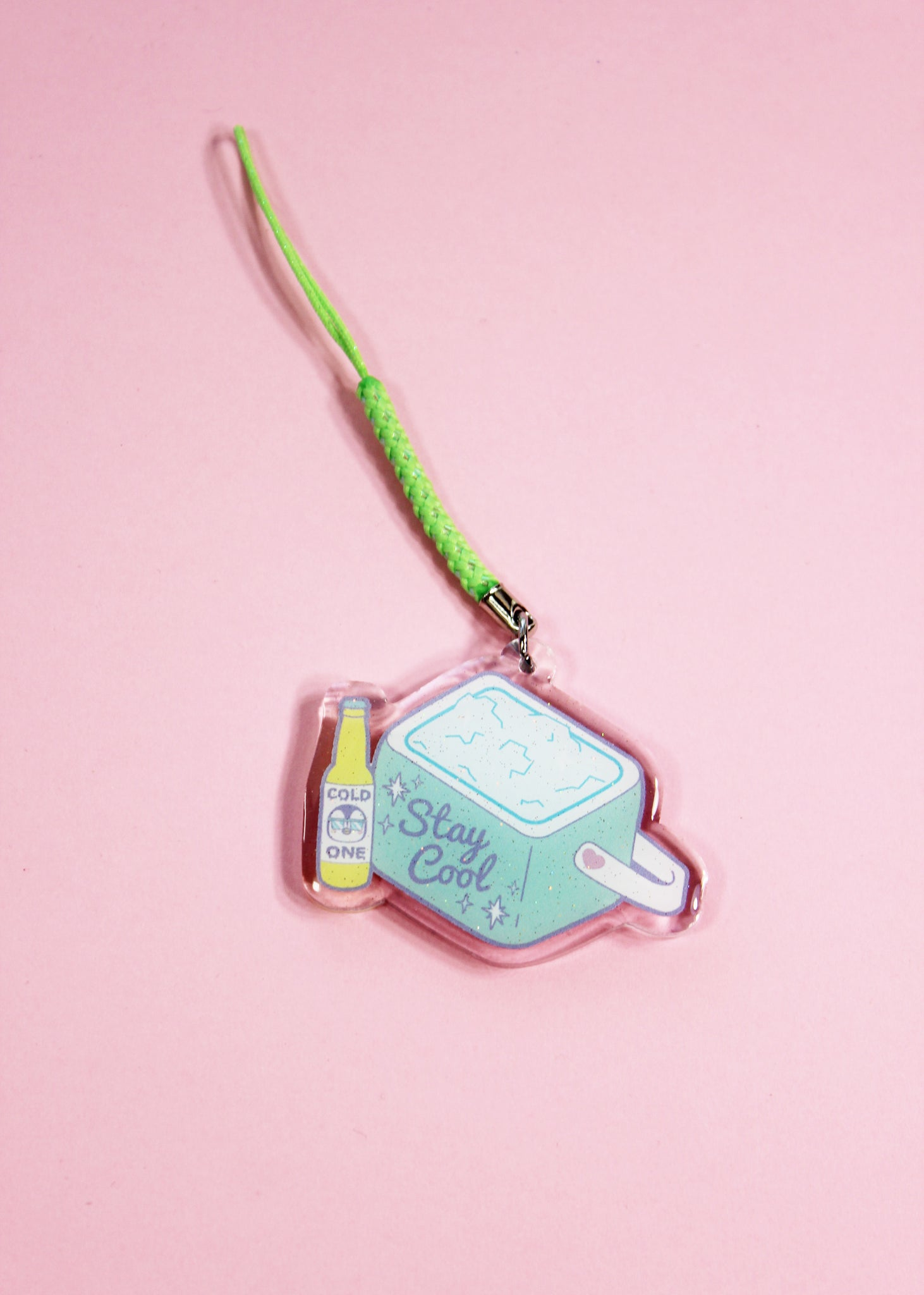 Stay Cool Cooler Double-Sided Acrylic Charm