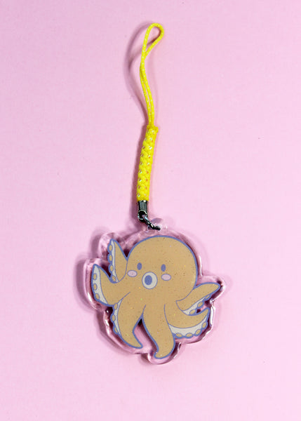 Cutie Octopus Double-Sided Acrylic Charm