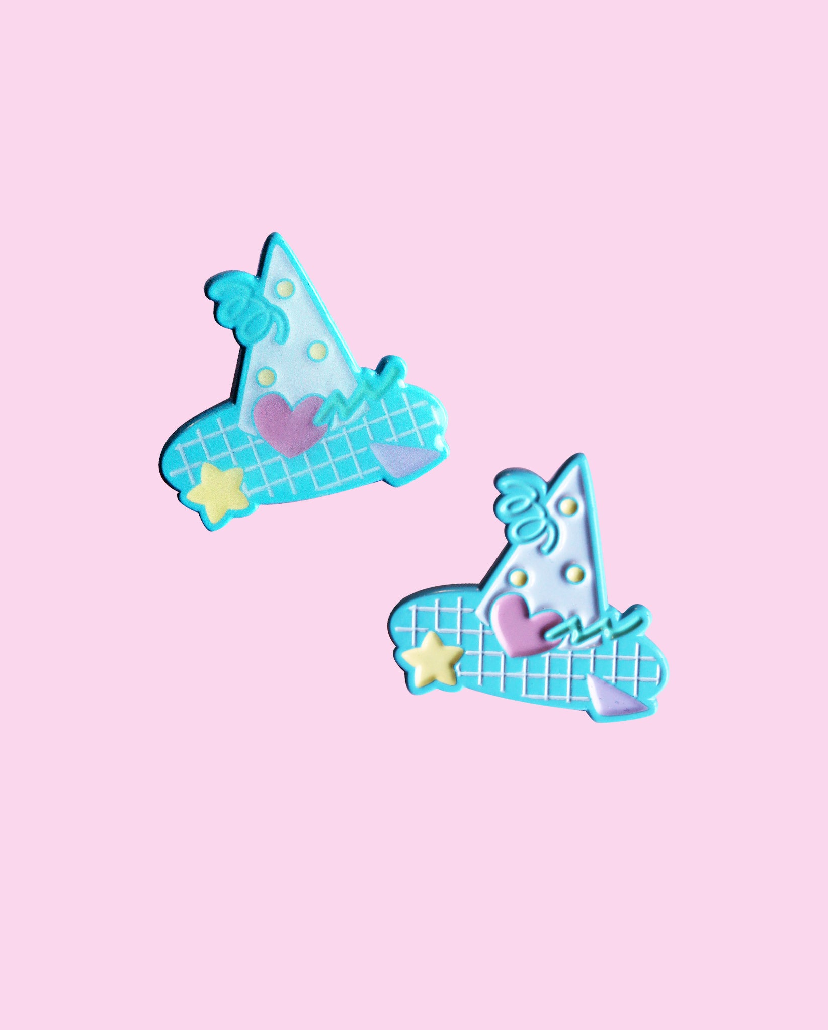 Confetti Witch Hat - Fairy Kei Soft Enamel Pin with Epoxy or No Epoxy