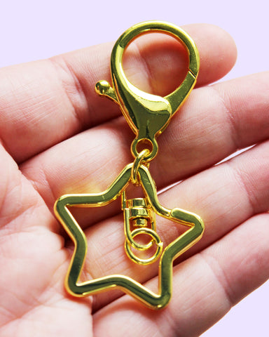 Star Shaped Keychain Keyring Combo
